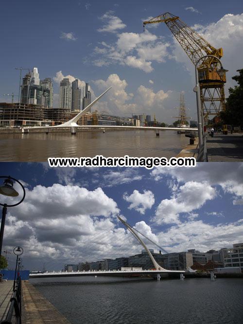 Buenos Aires and Dublin bridges
