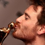 Michael Fassbender with award