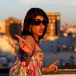 young woman waving finger at camera in buenos aires argentina Model released image