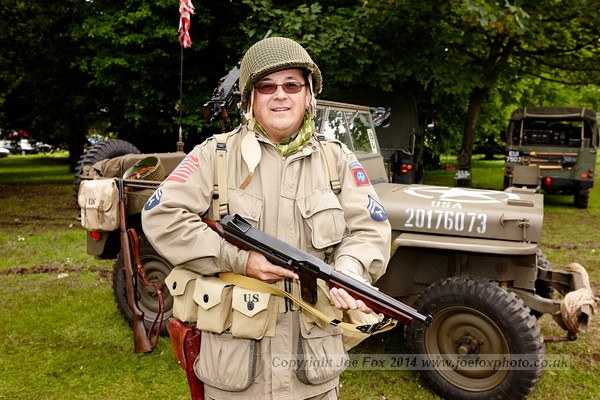 WW2 reinactor Stephen Gilmore at the Bangor Seashore Festival