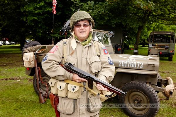 WW2 reinactor Stephen Gilmore at the Bangor Seashore Festival