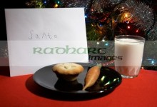 childs letter to santa with milk and carrot