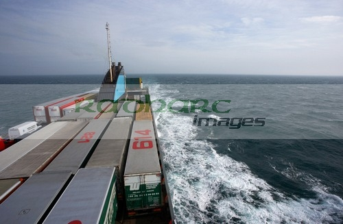 irish sea liverpool freight ferry deck