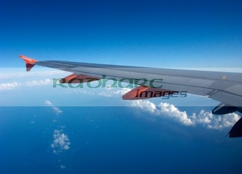 easyjet plane flying in blue sky
