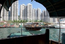 sampan boat trip around the floating village in aberdeen harbour hong kong hksar china asia