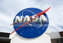 nasa logo emblem insignia at the Kennedy Space Center Florida USA