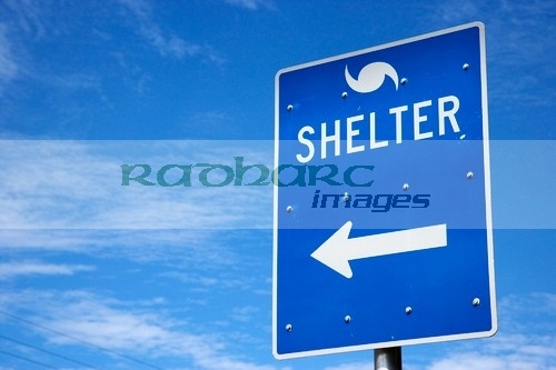 signs and directions for hurricane shelter florida keys usa