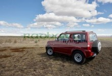 small suzuki jimny hire car jeep driven off road into fields in iceland